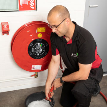 Brandslanghaspel onderhoud 1